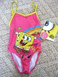 Spongebob Baby Toddler Girl Swimsuit Size 3T with UPF 50  