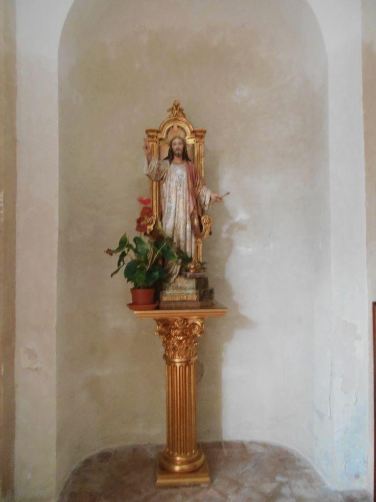Capilla del Cristo de Gracia. Hornacina con Jesús predicando. Iglesia de la Asunción.