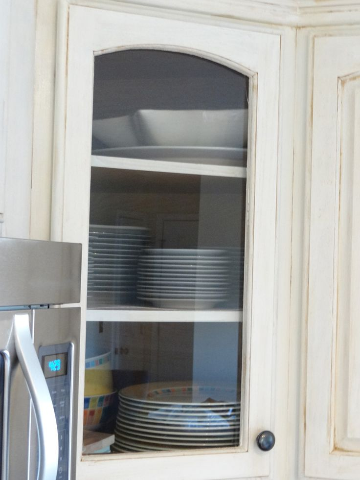 how to put glass in cabinet door-provident home design--kitchen update
