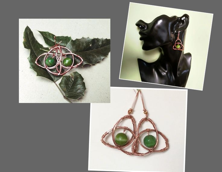 Feel the mystery of the celtic jewelry with these #triquetraearrings