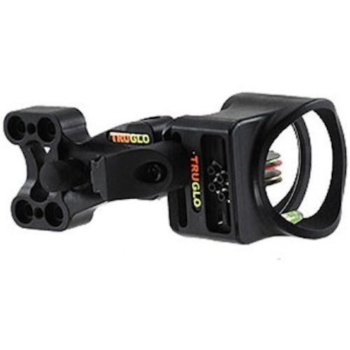 TRUGLO, Carbon XS Ca 4Pin Bow Sight, Weighs LESS 3.5oz BLACK