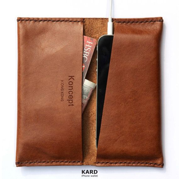 KARD wallet for iPhone 5 / 4 (Chocolate brown) auf Etsy, 37,17 €