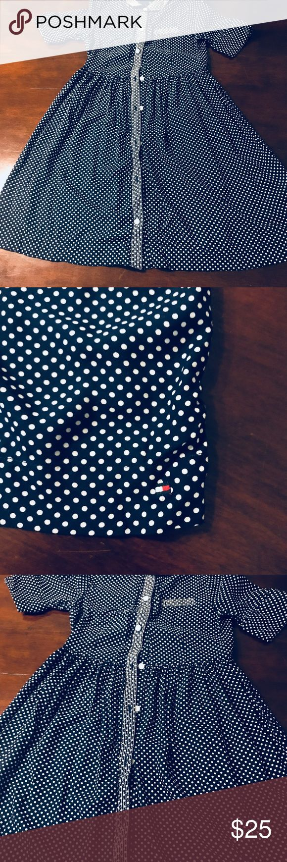 Girls Tommy Hilfiger Dress Navy blue / polka dot camisero style from Tommys Boutique Tommy Hilfiger Dresses Casual