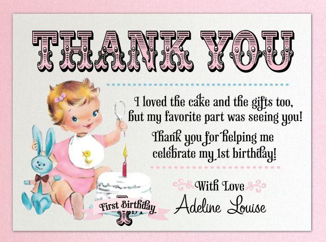 25 best Birthday thank you cards ideas – Thank You Card Birthday