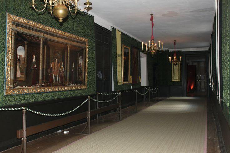 The Haunted Gallery At Hampton Court Palace. Katherine Howard's ghost is said to haunt this gallery
