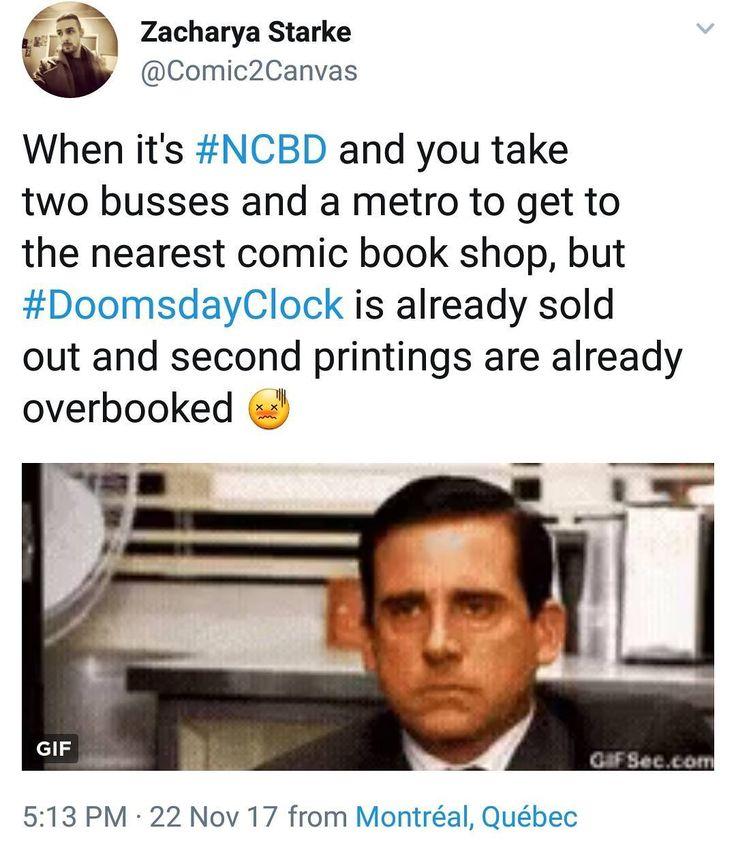 Ugh whyyyy     #doomsdayclock #justiceleague #watchmen #beforewatchmen #geoffjohns #comicsforsale #comicshop #comics #newcomicbookday #ncbd #soldout #doomsday #drmanhattan #dccomics #dcuniverserebirth #dcrebirth #dc #comicbookstore #comicbooks #twitter #follow