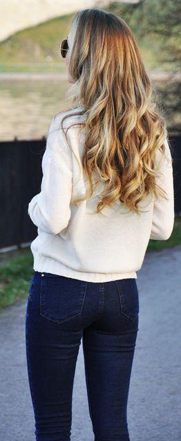 White long sleeve sweater.