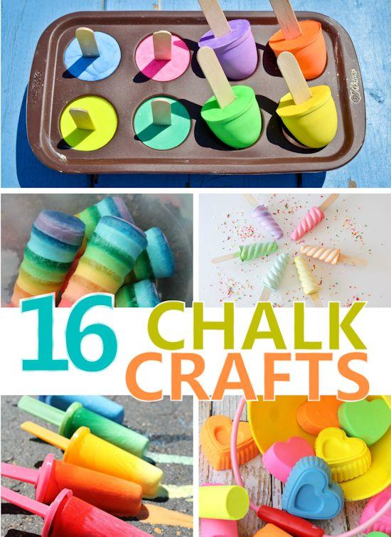 16 Chalk Crafts and Art Activities, Summer Craft, Kids Craft