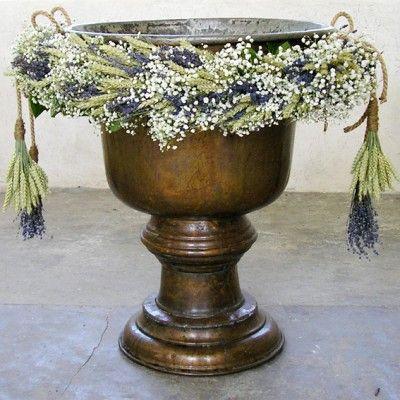 yau flori+yau evenimente+ghirlanda pentru botez cu grau si lavanda