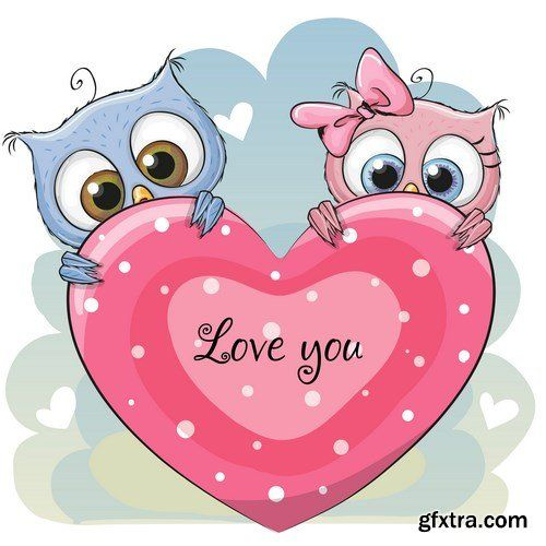 Cute Cartoon Owl - 7 EPS
