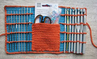 Crochet hooks storage / Haaknaalden mapje