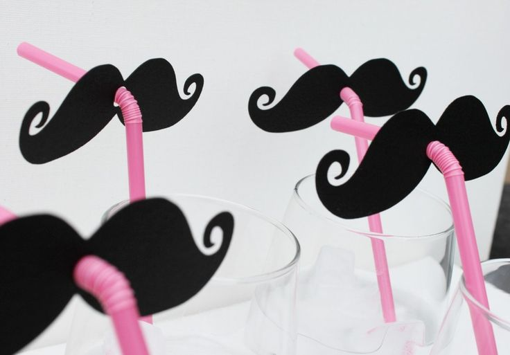 Moustache - cute idea for the kids table. Plus I want to do red lips for the girls :)