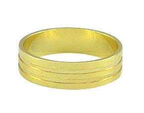 Aliança masculina folheada a ouro Cód.: AN0389