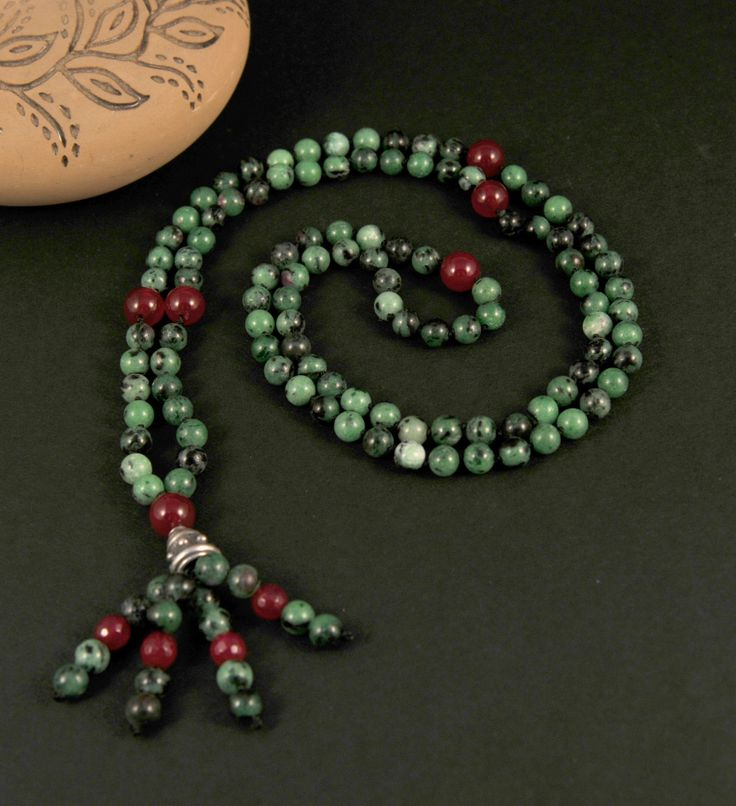 Agate RubyZoiSite Mala Necklace