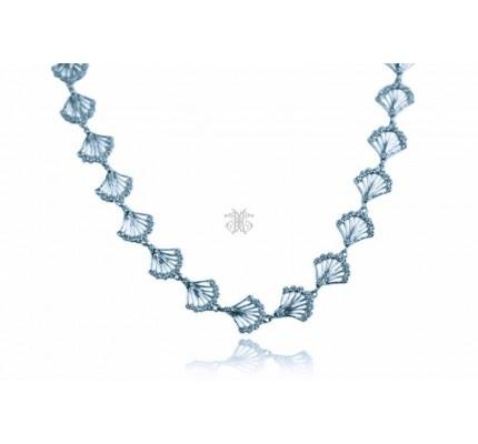 Κολιέ λευκόχρυσο με ζιργκόν #necklace #whitegold #zircon #woman #classic