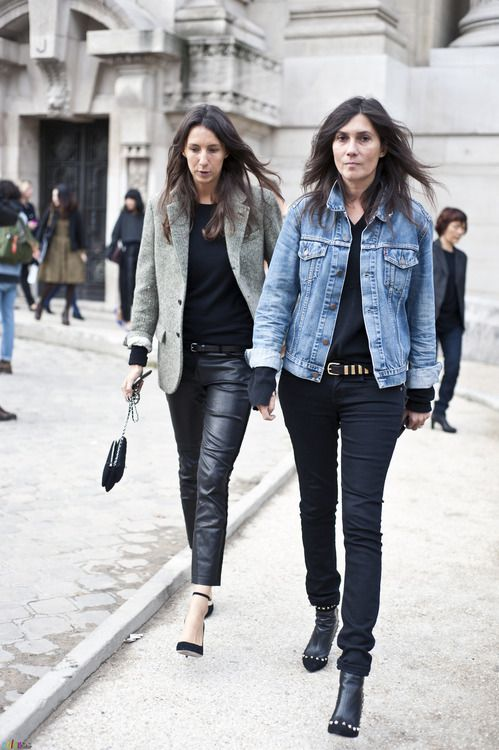 la modella mafia Emmanuelle Alt Fall 2013 fashion week street style 1