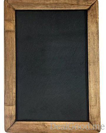 Vintage Framed Slate Kitchen Chalkboard (10 x 14) Decorative Chalk