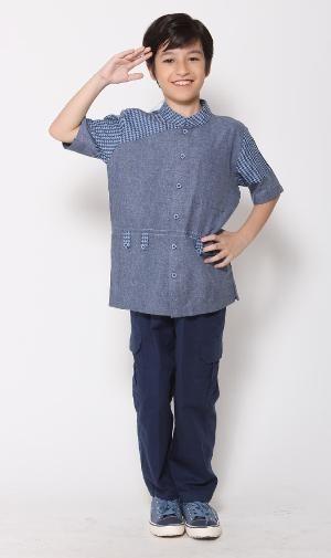 Baju Muslim Anak Koko Majma Kids 20 Biru - SIZE 1 - BIG SALE