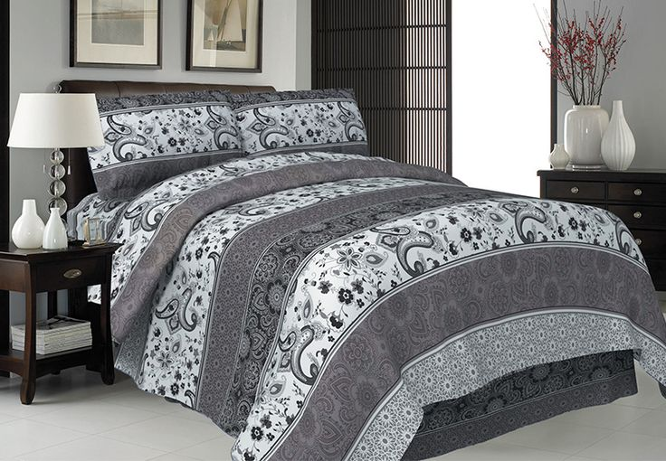 Premium Quality Duvet Cover Set in Double, Queen OR King Size, 3 Colours