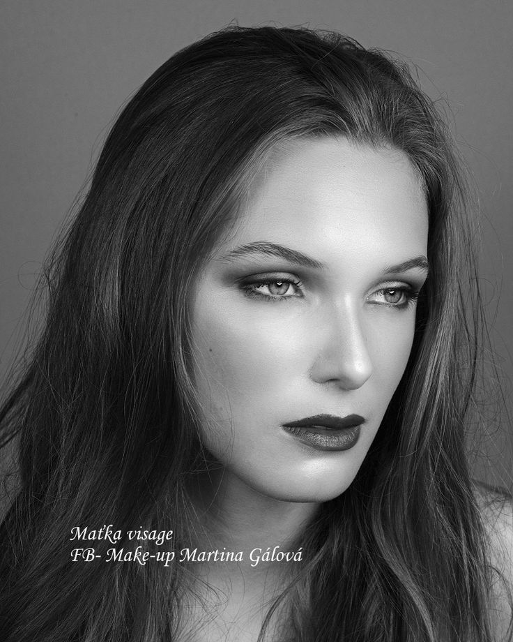Black and white photo My work - make-up and hair styling