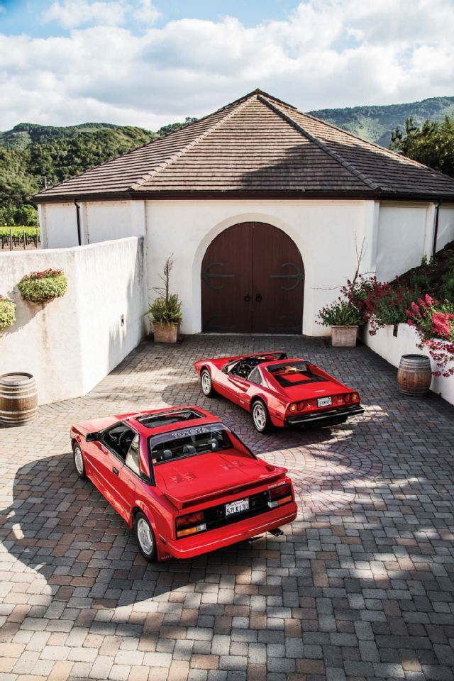 1986 Toyota MR2 and 1985 Ferrari 308 GTSi