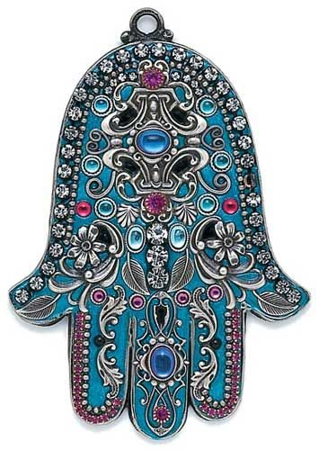 The Hamsa Prayer Let no sadness come to this heart Let no trouble come to these arms Let no conflict come to these eyes Let my soul be filled with the blessing of joy of peace. The Hamsa is an ancient Middle Eastern amulet symbolizing the Hand of God. In all faiths it is a protective sign. It brings it's owner happiness, luck, health, and good fortune. - See more at: http://www.jewishgiftplace.com/Hamsa-Hand-Symbology.html#sthash.wZmnB49L.dpuf: