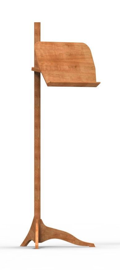 Solid Wood Cherry Music Stand Contemporary by TYFineFurniture