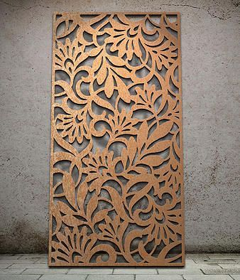 Botanical | Miles and Lincoln | Laser cut screens | Laser cut panels: