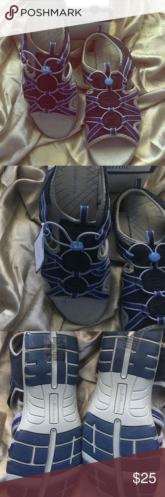 Ladies sandals Croft&barrow ladies suede upper sandal never worn new in box size 10, very sturdy n well made for comfort croft & barrow Shoes Sandals