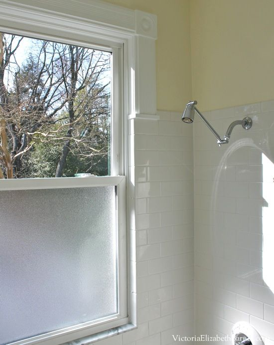 Photography Gallery Sites Our old house bathroom has a giant window in the shower See