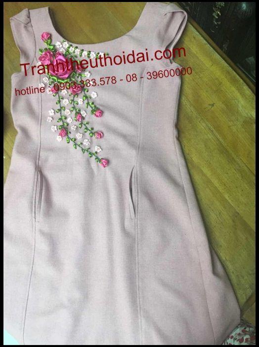 sảm phẩm ribbon emdroidery của www.tranhtheuthoidai.com