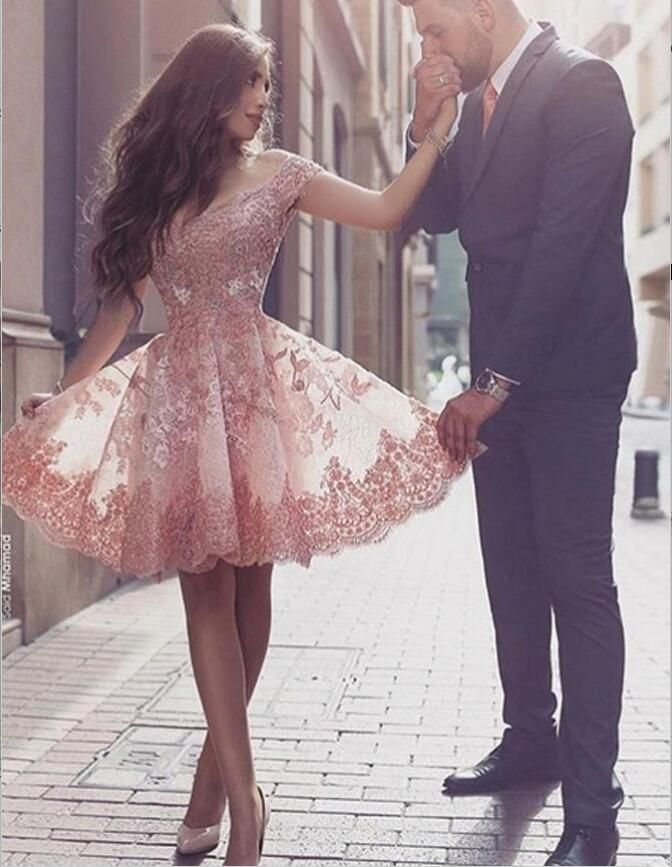 Off Shoulder Homecoming Dresses, Lace Homecoming Dresses, Sexy Homecoming…