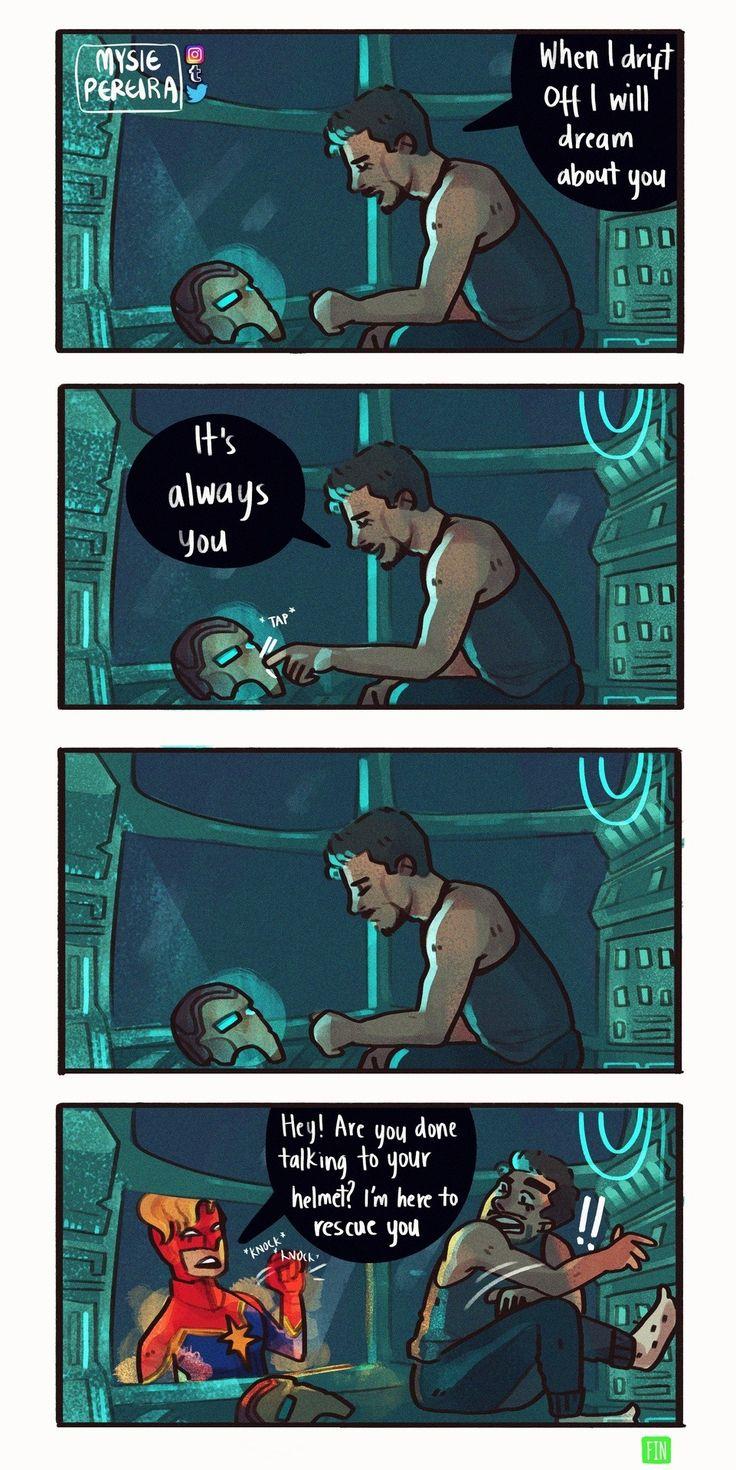 Tony gets rescued by Captain Marvel - Avengers Endgame ...