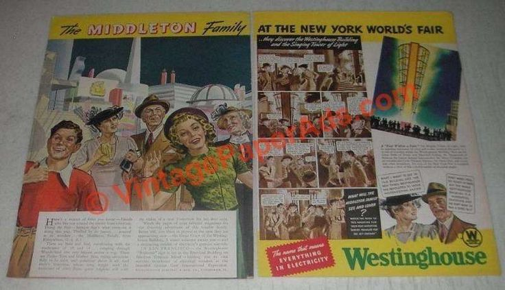 1939 Westinghouse Electric Ad - Family At World's Fair