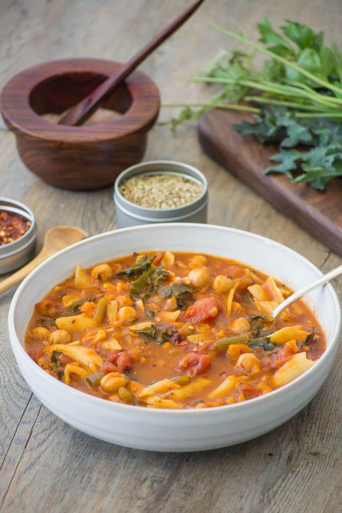 Kale, Chickpea & Vegetable Minestrone; use Epicure's Vegetable Bouillon