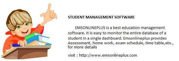 Emsplus was one such solution where almost all the activities of any standard institution is available in a single repository with a central database.