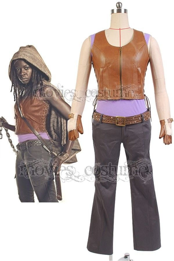 Michonne Outfit Cosplay Costume for The Walking Dead Cosplay
