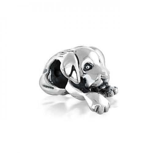 925 Silver Cute Puppy Dog Bead Compatible with Pandora Chamilia Troll Biagi