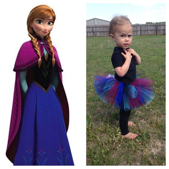 Disney's Frozen - Princess Anna Tutu - Maroon, Royal Blue, Black and Turquoise by OhMyStarsDesigns
