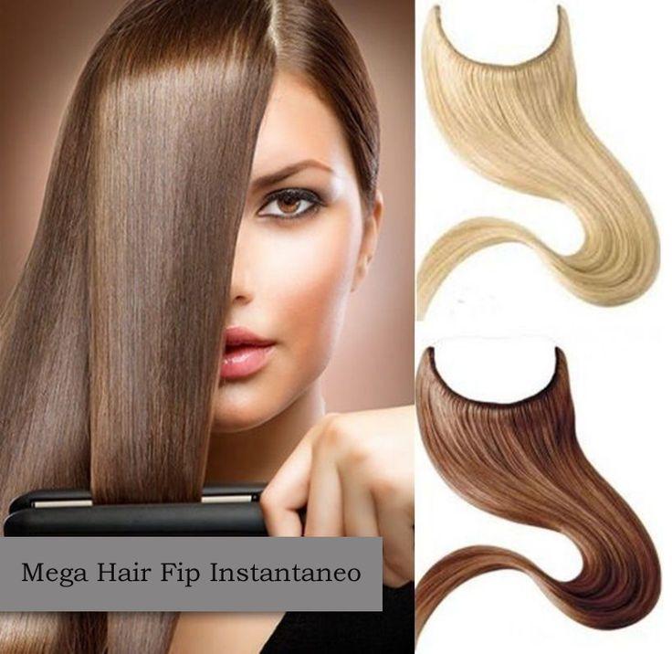 Mega Hair Flip Liso 81 cm 100 Gramas Cabelo Humano cores #1 /#1B /#02 /#04 /#06 /#08 /#12 /#613 /#4-613 /#27-613 //Price: $517.00 & FREE Shipping