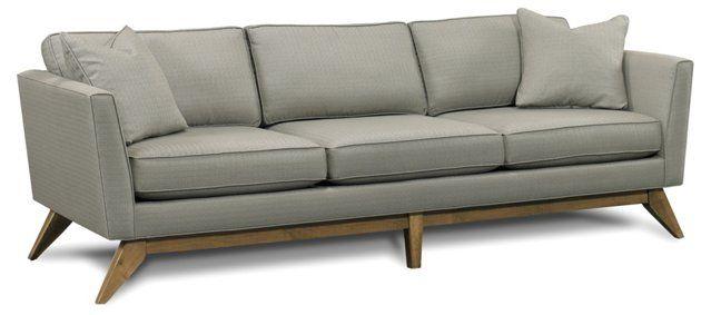 """Paxton 92"""" Retro Sofa, Pewter $1,995.00"""