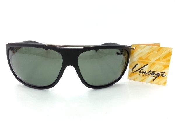 Vintage Polarized Instinct Black Sheet Sunglasses