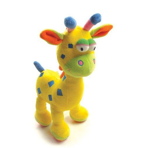 Кэндис го! супер милый мультфильм пятнистый олень жираф красочные детские плюшевые игрушки кукла качая белл день рождения рождественский подарок 1 шт.
