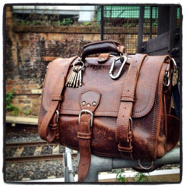 No logo on the center strap means this one's about three years old. | Saddleback Leather Co. | Classic Briefcase | 100 Year Warranty | $568 - $664