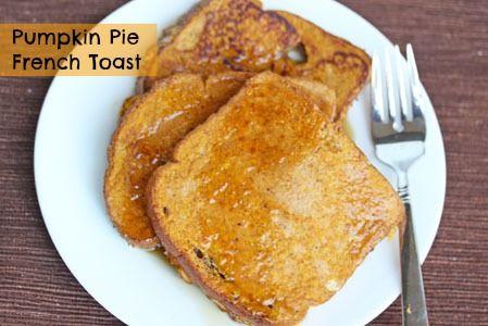 Pumpkin Pie French Toast | 5DollarDinners.com
