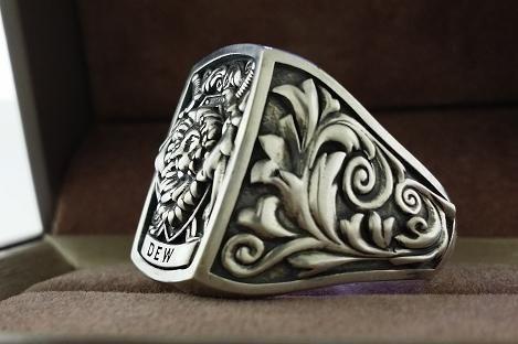 Custom Made Mens Ring Signet Ring Cool Ring