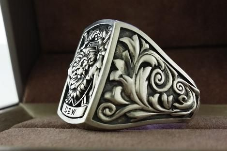 Custom Made Mens Ring Signet Ring Cool Ring