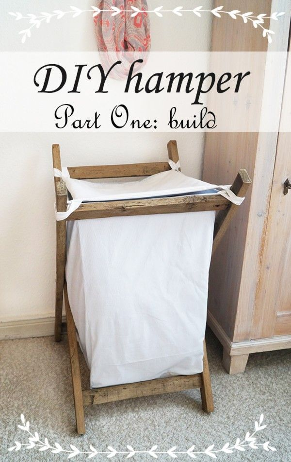 how to make a recycled pallet hamper green pinterest pallets how to make and hampers. Black Bedroom Furniture Sets. Home Design Ideas