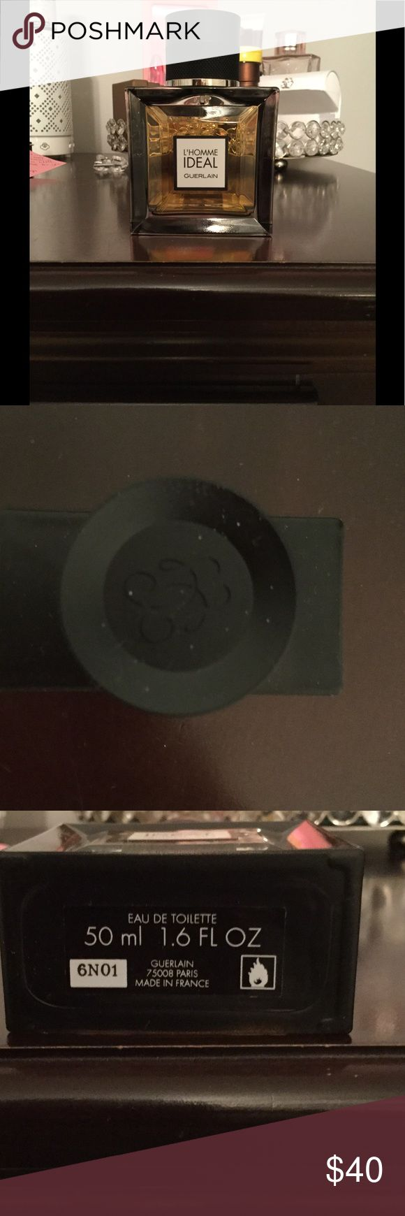 Men's cologne 50 ml Eau de toilette, L' Homme Ideal by Guerlain, barely used, scents of woods & almond guerlain Other