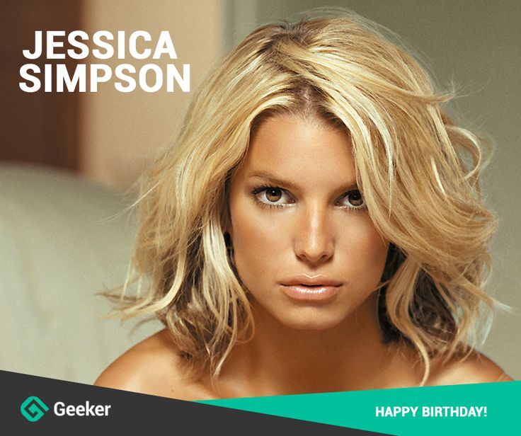 Today we're happy to congratulate an amazing person, singer, songwriter and just simply a beautiful woman - #JessicaSimpson! Geeker's team wishes all the best to you on your day! Happy birthday!